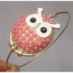 Lovely Owl Bangle Bracelet..